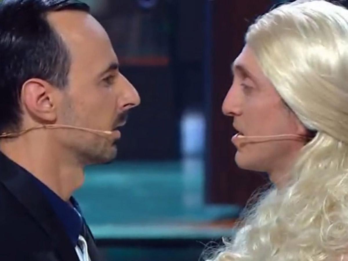 Депутаты поцелуй в шоу «Игра»
