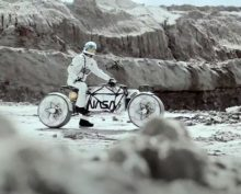 Ученые создали мотоцикл для поездок по Луне
