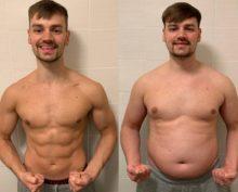 Фитнес-эксперт опробовал на себе собственные методики, поправившись до 90 кг и сбросив вес