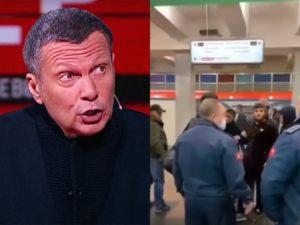 «Эти люди ваши?»: Соловьев обратился к Кадырову из-за конфликта кавказцев в метро