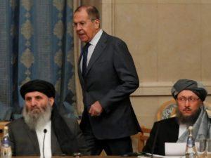 Глава МИД России Сергей Лавров встретился с делегацией Талибана в Москве