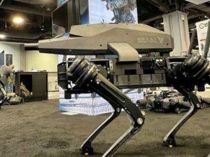 В США показали робособаку со штурмовой винтовкой на спине
