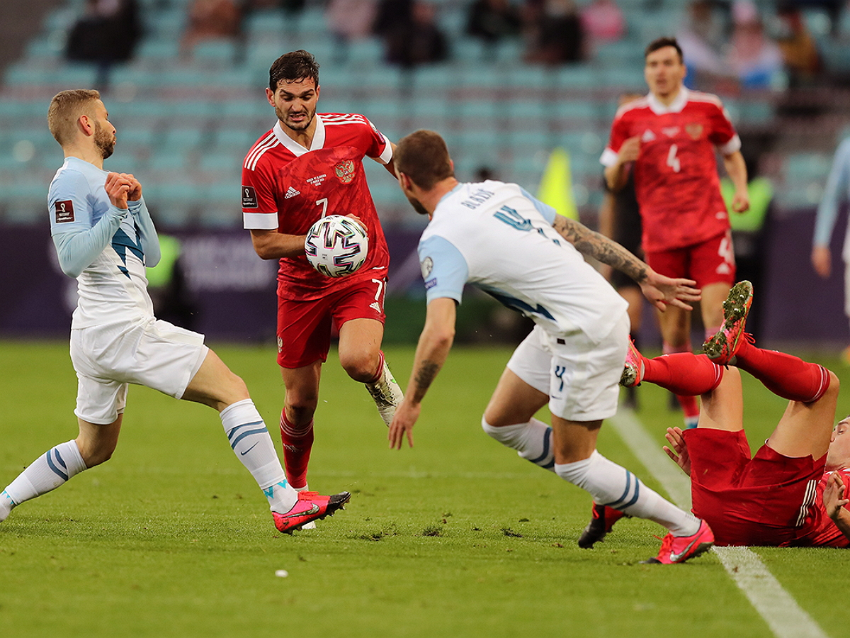 Россия обыграла Словению в отборочном матче ЧМ-2022