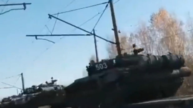 Колонна танков РФ выдвинулась к украинской границе