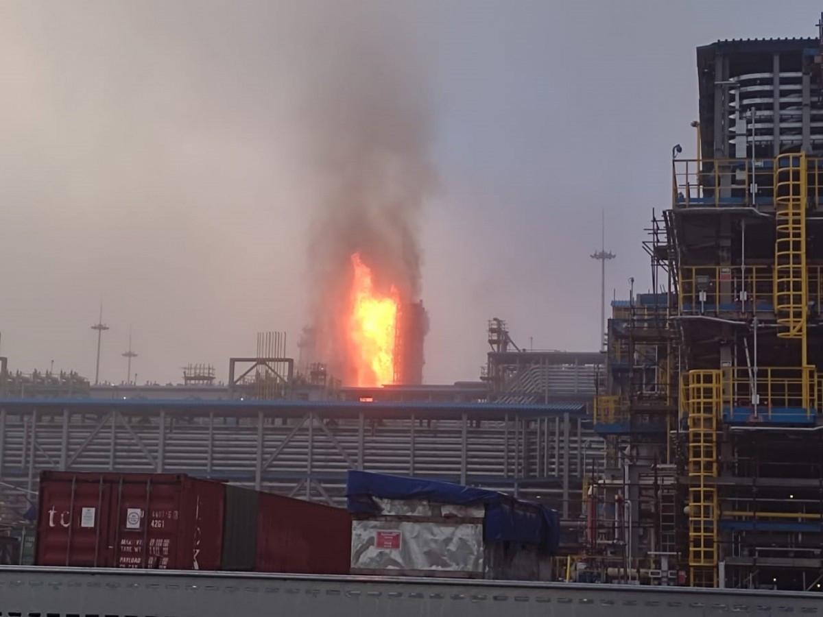 Взрыв на заводе Газпрома в Амурской области