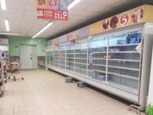 локдаун в магазинах Москвы ад