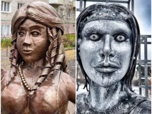 Памятник молодоженам в Павлово составил конкуренцию Аленке из Нововоронежа