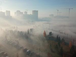 Екатеринбург погрузился в смог - город стал похож на Сайлент Хилл
