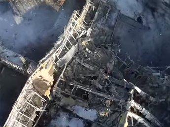 Опубликовано видео разрушенного аэропорта Донецка