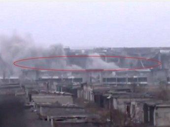 В донецком аэропорту обрушились перекрытия, завалив украинских бойцов