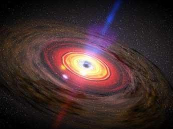 Астрономы обнаружили рекордно гигантскую черную дыру