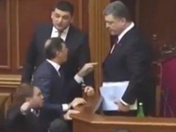 Ляшко прогнал Порошенко с трибуны Верховной рады
