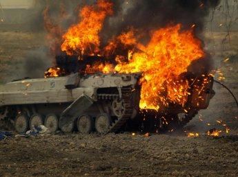 На Украине взорвалась военная колонна (ФОТО)