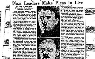 ФБР рассекретило показания обегстве Гитлера вАргентину