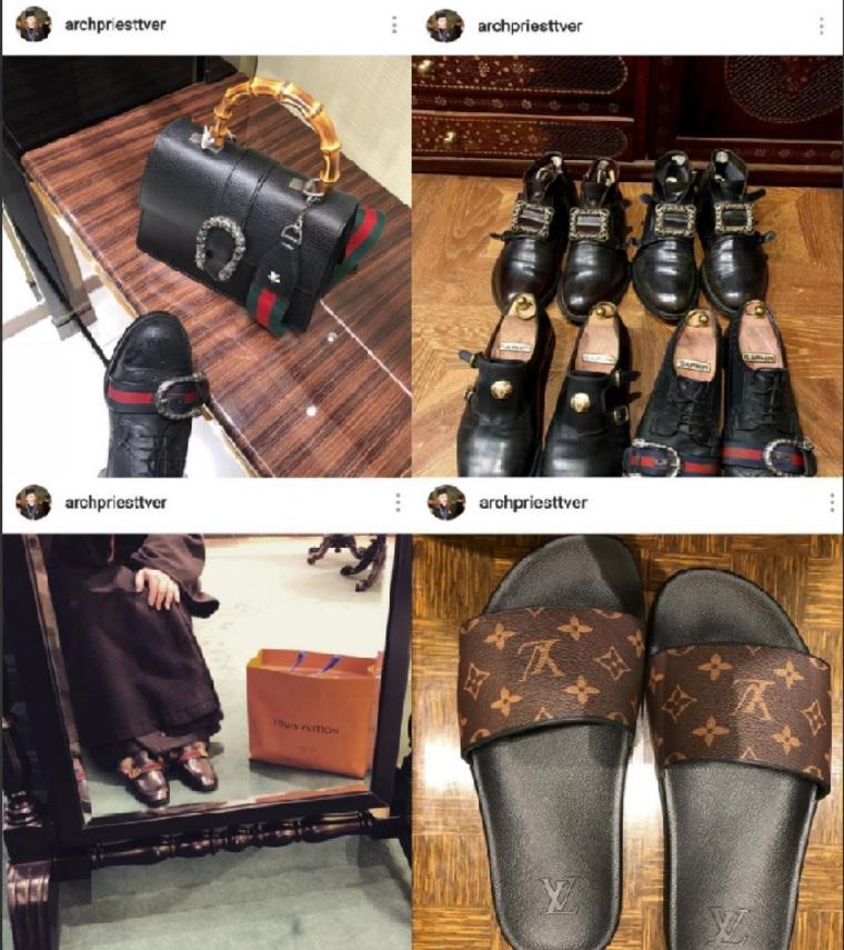 Тверской протоиерей вызвал возмущение в сети  покупками в магазинах Gucci и Luis Vuitton