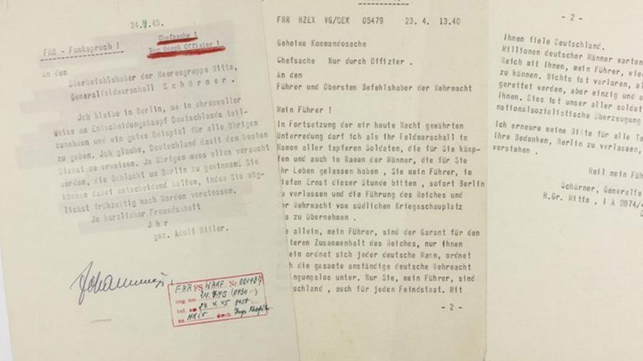 Предсмертную телеграмму Гитлера выставили на торги