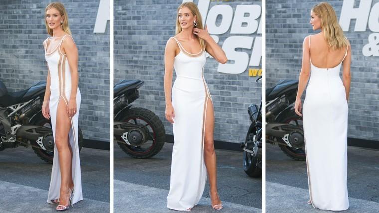 А трусы где?: невеста Джейсона Стейтхема вышла в свет в откровенном платье