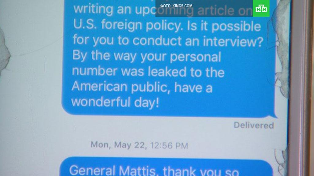 Руководитель Пентагона Джеймс Мэттис дал интервью старшекласснику