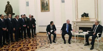 Путин и Эрдоган встретились на фоне скульптуры о разгроме турок в 1878 году (ФОТО)