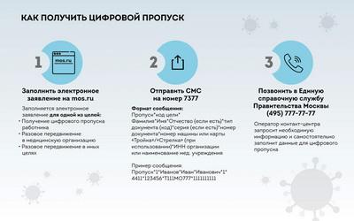 В Москве открылся доступ к оформлению цифровых пропусков