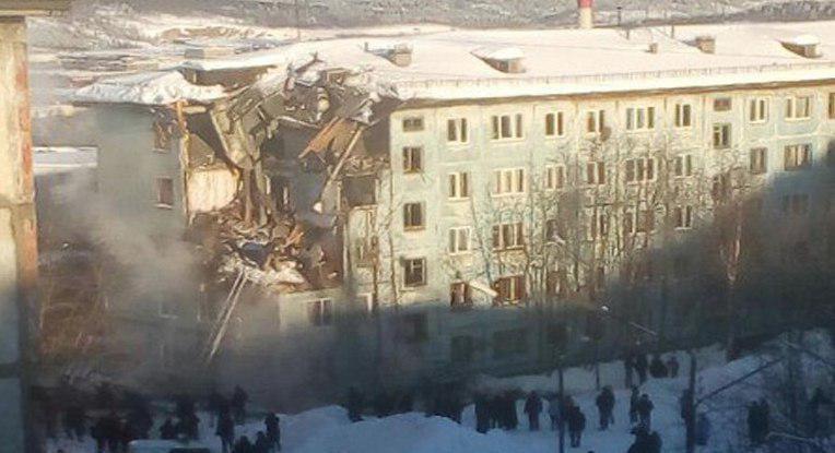 МЧС завершило поисково-спасательные работы наместе взрыва газа вМурманске