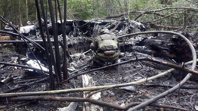 МинобороныРФ: вПодмосковье разбился истребитель Су-27, пилот умер