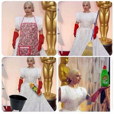 Наряд Леди Гаги на церемонии «Оскар» «взорвал» Интернет