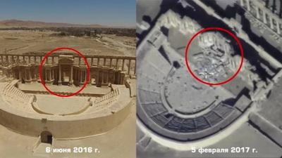 Обвинили ИГИЛ: Российская Федерация показала масштабные разрушения вПальмире