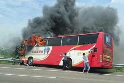НаТайване живьем сгорели 26 туристов