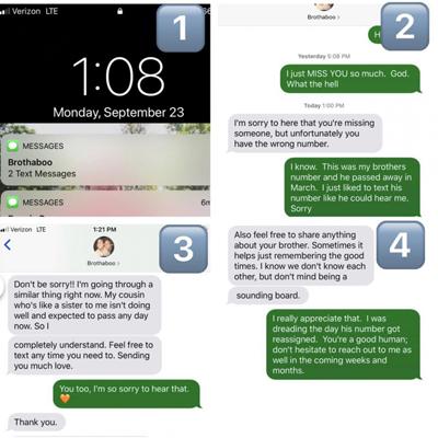 Девушка отправила СМС мертвому брату и получила неожиданный ответ