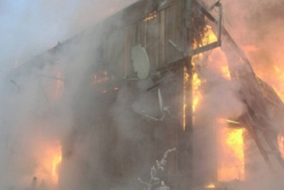 Впожаре вБогучанах умер мужчина