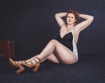 Заедала депрессию и растолстела до 110 кг: Невыдуманная история первой российской модели plus-size на Неделе моды в Париже