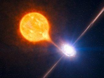 Обнаружена черная дыра, которая выдувает пузыри