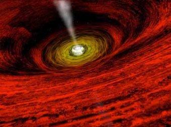 Астрономы сфотографировали, как черная дыра поглощает реку раскаленного газа
