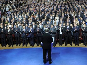 CNN сообщила, что Путина освистали на съезде «Единой России»