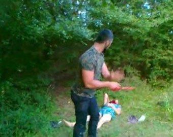 отрезание головы женщине видео