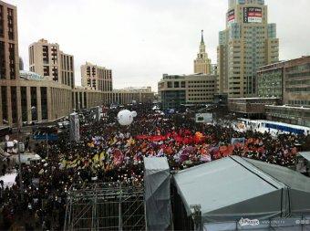 На митинге в Москве Путину припомнили бандерлогов и презервативы