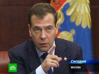 За сутки Медведев уволил двух губернаторов и одного министра