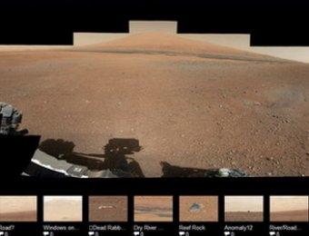 NASA добыло фантастические пейзажи Марса, снятые Curiocity