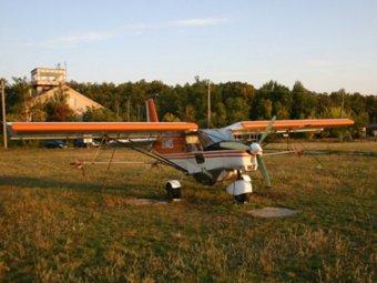 В Краснодарском крае упал легкомоторный самолет.