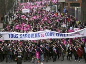 """В Париже на марш против """"брака для всех"""" вышли до 800 тысяч человек"""
