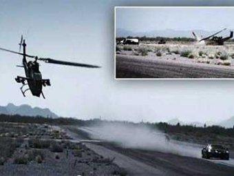 Во время съемок телешоу Top Gear вертолет разбился, пытаясь обогнать суперкар