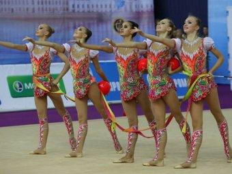 Российские гимнастки победили в общем зачете ЧМ в Киеве