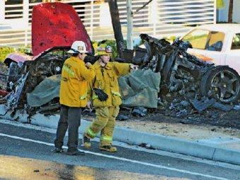 Пол Уокер был жив еще 60 секунд после аварии (ФОТО, ВИДЕО)