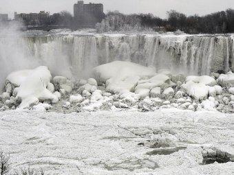 фото ниагарский водопад замерз