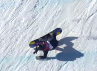 Олимпиада в Сочи стартовала страшным падением норвежской сноубордистки