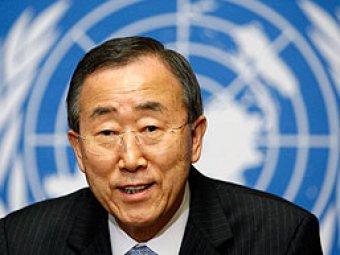 """Генсек ООН поблагодарил Порошенко за """"поиск мирного решения конфликта"""""""