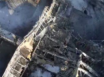 Новости Новороссии и Украины 17 января 2014: опубликовано видео разрушенного аэропорта Донецка(видео)