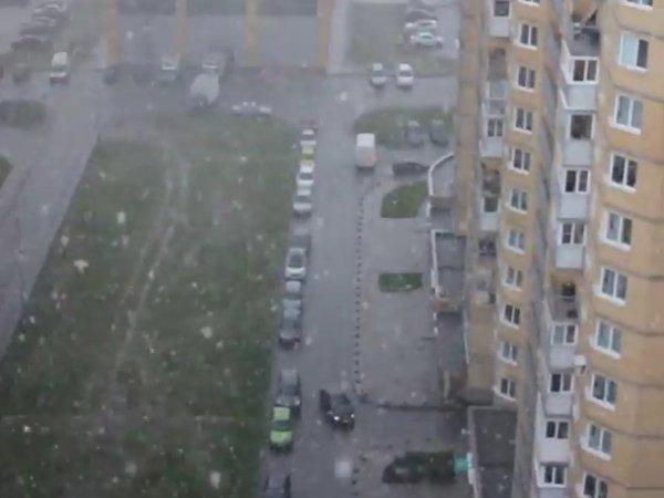 Град в Петербурге 17 июня 2015 засыпал несколько районов города (ФОТО) (ВИДЕО)