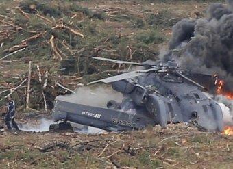 Выживший пилот Ми-28 сам выбрался из горящего вертолета (видео)